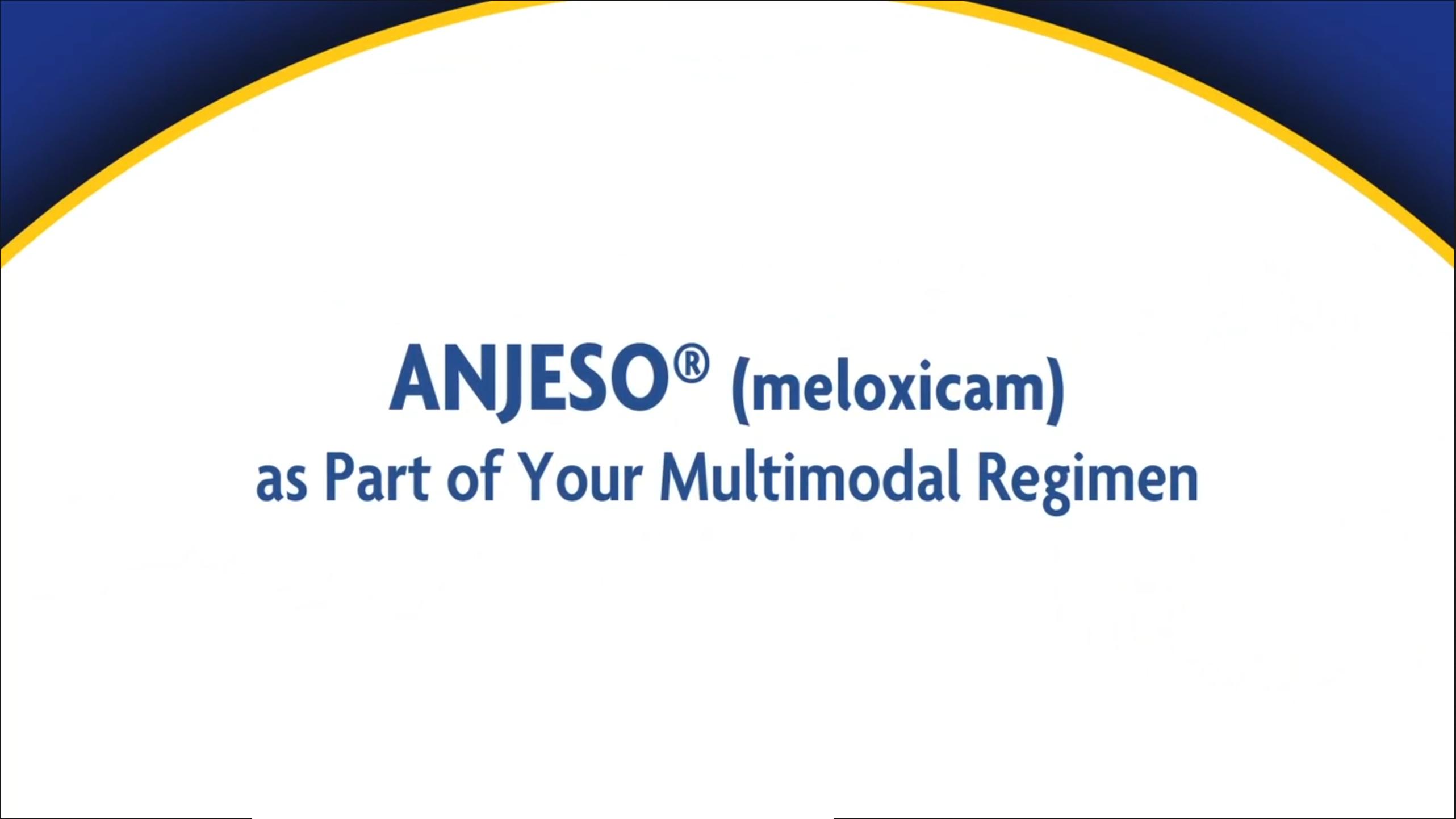 ANJESO as Part of Your Multimodal Regimen Video thumbnail