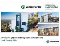 James Hardie 2019 Europe Investor Presentations