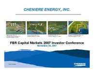 FBR Capital Markets 2007 Investor Conference