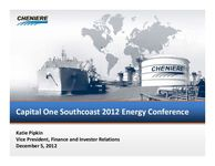 Capital One Southcoast 2012 Energy Conference