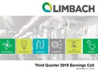 Third Quarter 2019 Earnings Call Presentation
