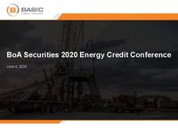 BofA Securities 2020 Energy Credit Conference Presentation