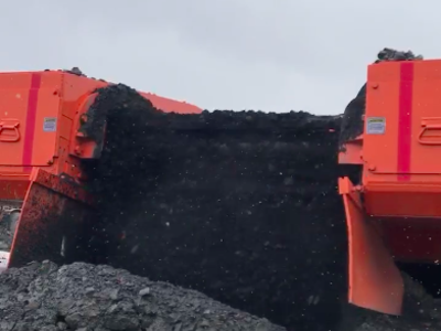 Surface feeder transferring coal from the Poplar Grove mine to the CHPP