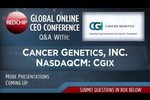 Cancer Genetics, Inc.: RedChip Global Online CEO Conference