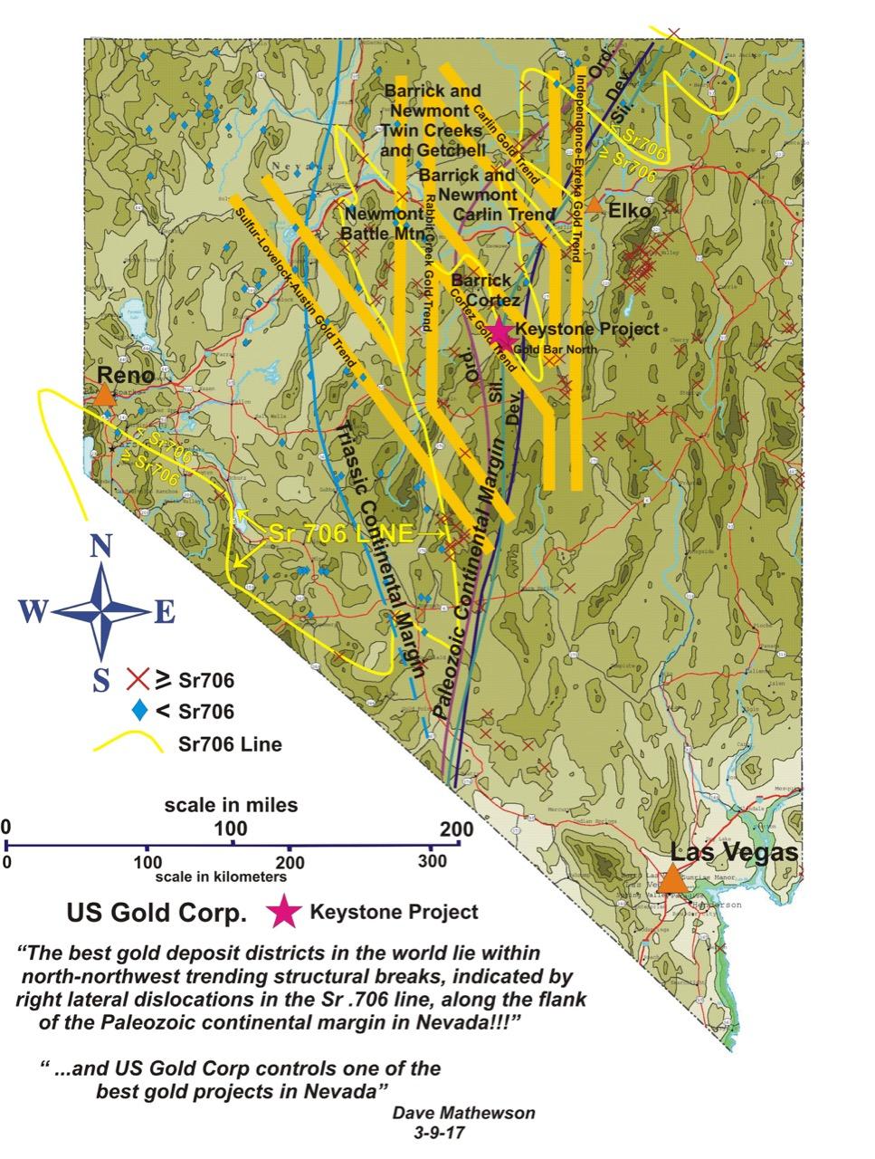 Maps :: U.S. Gold Corp. (USAU) Keystone Map on