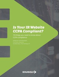 IR Website CCPA Compliance