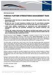 Paringa Further Strengthens Management Team