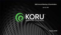KORU 2020 Annual Shareholder Meeting
