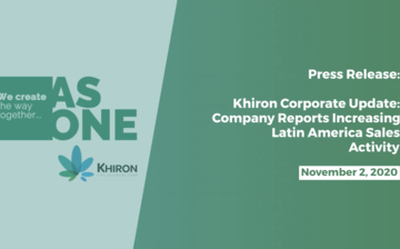 Khiron Corp. Update: Company Reports Increasing Latin America Sales Activity thumbnail