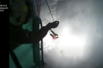 Dramatic moment Coastguard helicopter rescues fallen climber after avalanche