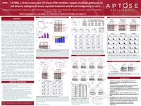 2018 AACR Poster - CG'806, a first-in-class pan-FLT3/pan-BTK inhibitor, targets multiple pathways to kill diverse subtypes of acute myeloid leukemia and B-cell malignancy in vitro