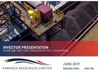 Company Presentation - A New Low-Cost Coal Producer in the US