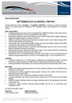 September 2014 Quarterly Report
