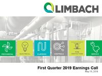 First Quarter 2019 Earnings Call Presentation