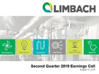 Second Quarter 2019 Earnings Call Presentation