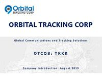 Orbital Tracking Corp. Corporate Presentation - August 2019