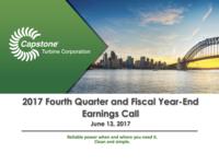 Q4 FY2017 Capstone Turbine Earnings Presentation