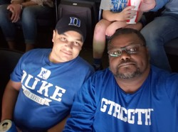 Derrick and son, Alex, at the ACC Championship Game!!