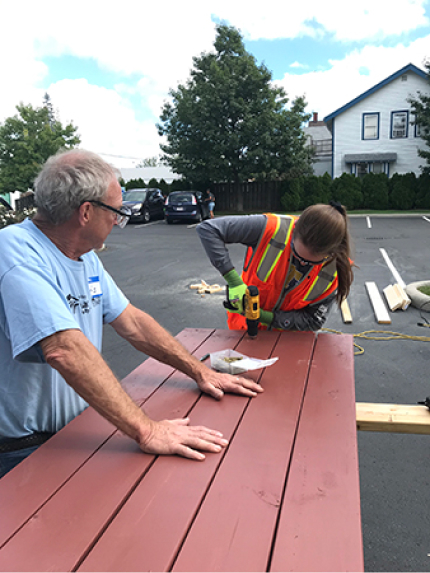 Cleveland-Cliffs employee-volunteers help a local family in North St. Louis County, Minnesota put down roots with a new home.
