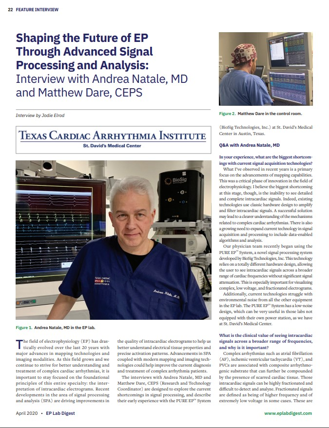 Shaping the Future of EP through Advanced Signal Processing and Analysis