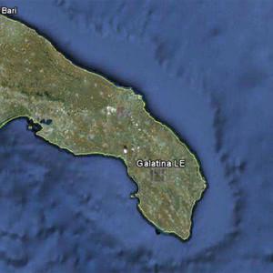 Galatina, Italy Map