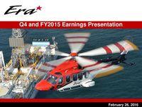 Presentación de utilidades del cuarto trimestre y año fiscal de 2015