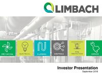 Investor Presentation, September 2018
