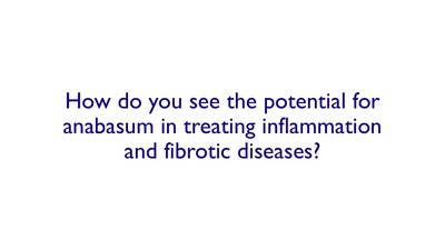 How do you see the potential for anabasum in treating inflammation and fibrotic diseases