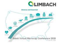 Sidoti Virtual Microcap Conference 2020 Presentation - June 30th, 2020
