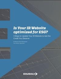 IR Website ESG Best Practices