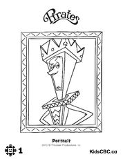 Portrait and cubism coloring book