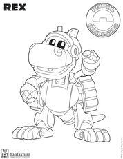 Rex Coloring Page