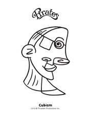 Cleo Cubism Coloring Page
