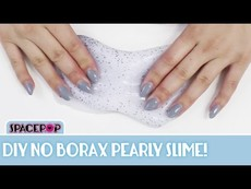 Make DIY Borax-Free Pearly Slime