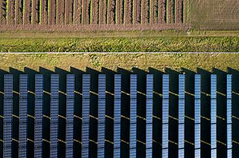 solar planes in field
