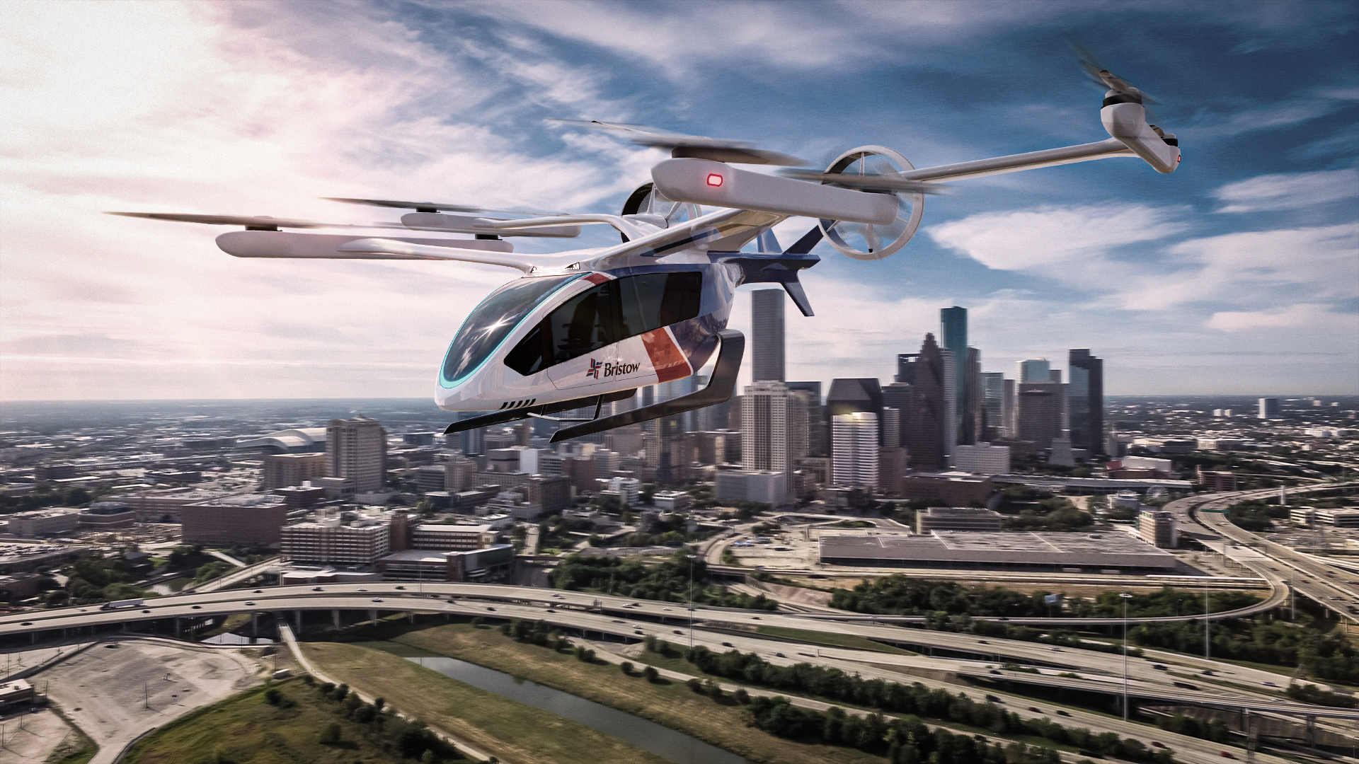 Eve's community-friendly zero-emission and low noise eVTOL is based upon a simple and intuitive human-centric design. Click the image to download a high resolution image.