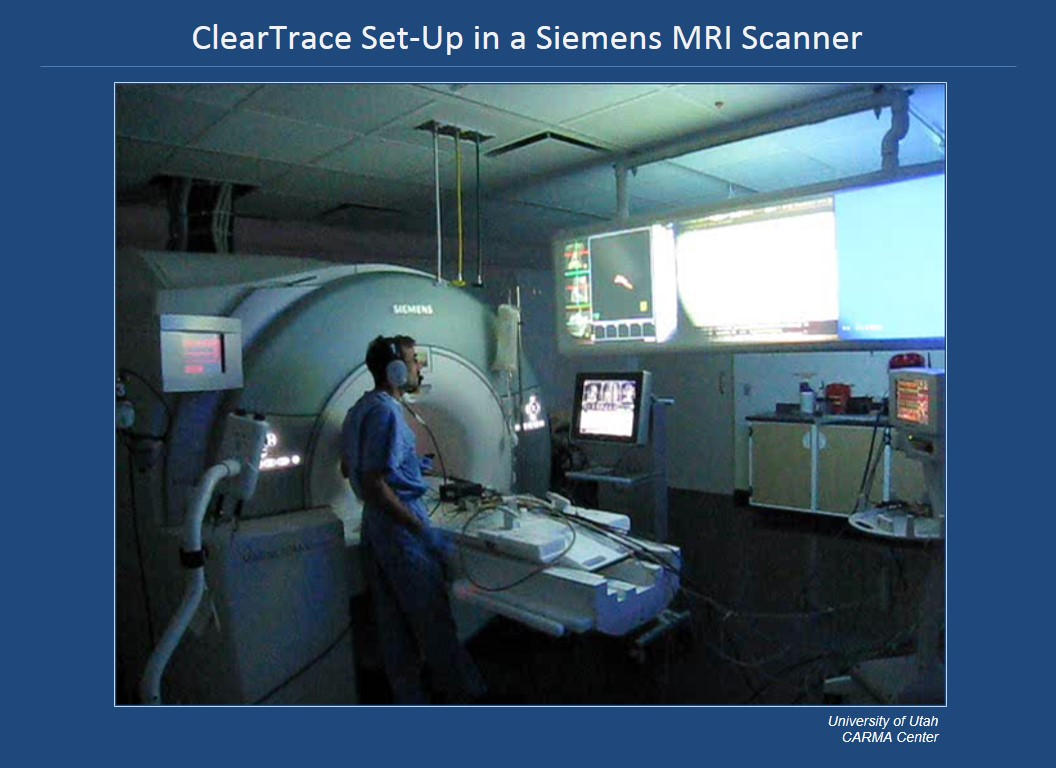 ClearTrace Set-Up in a Siemens MRI Scanner