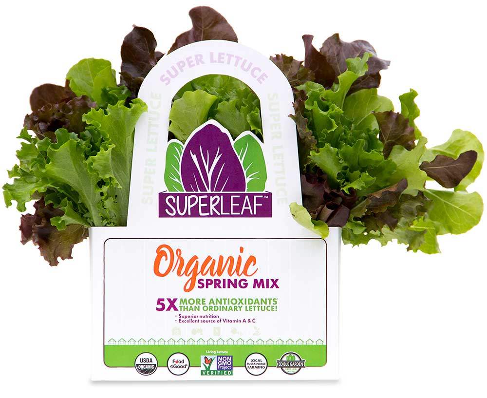Superleaf Spring Mix Edible Garden Corp