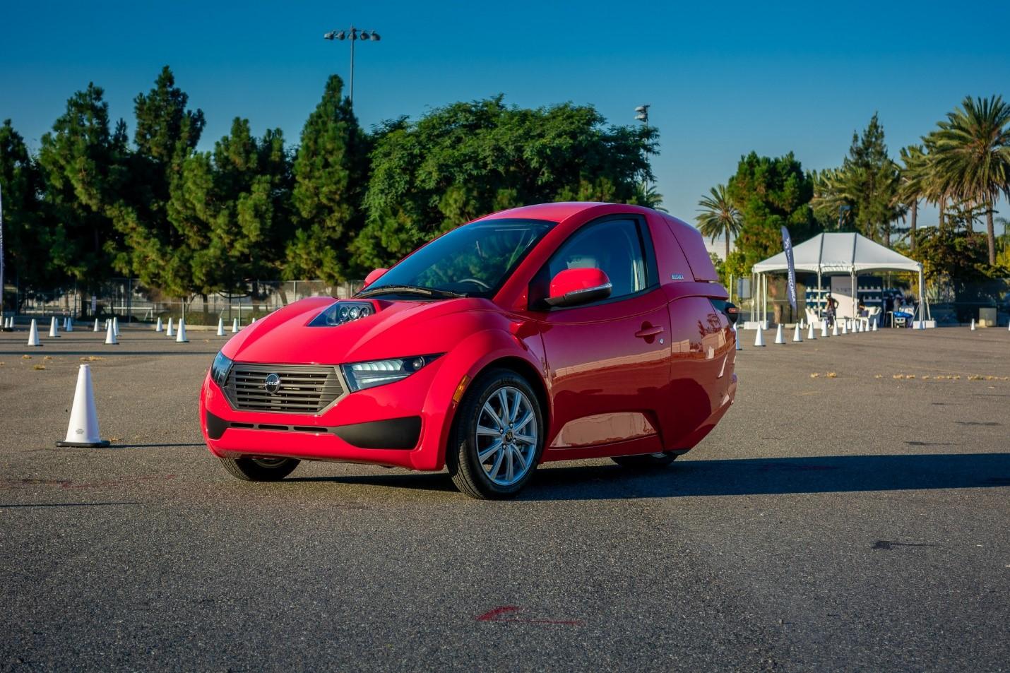 Production SOLO EV at the Company's 'ride-and-drive' press event in Santa Monica, CA.