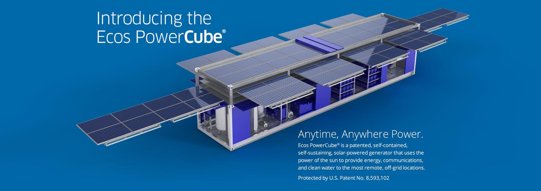 Ecos Powercube 174 World S Mobile Solar Powered Generator