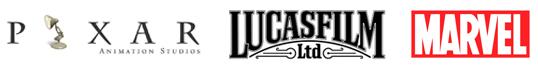 Pixar Lucasfilm Marvel