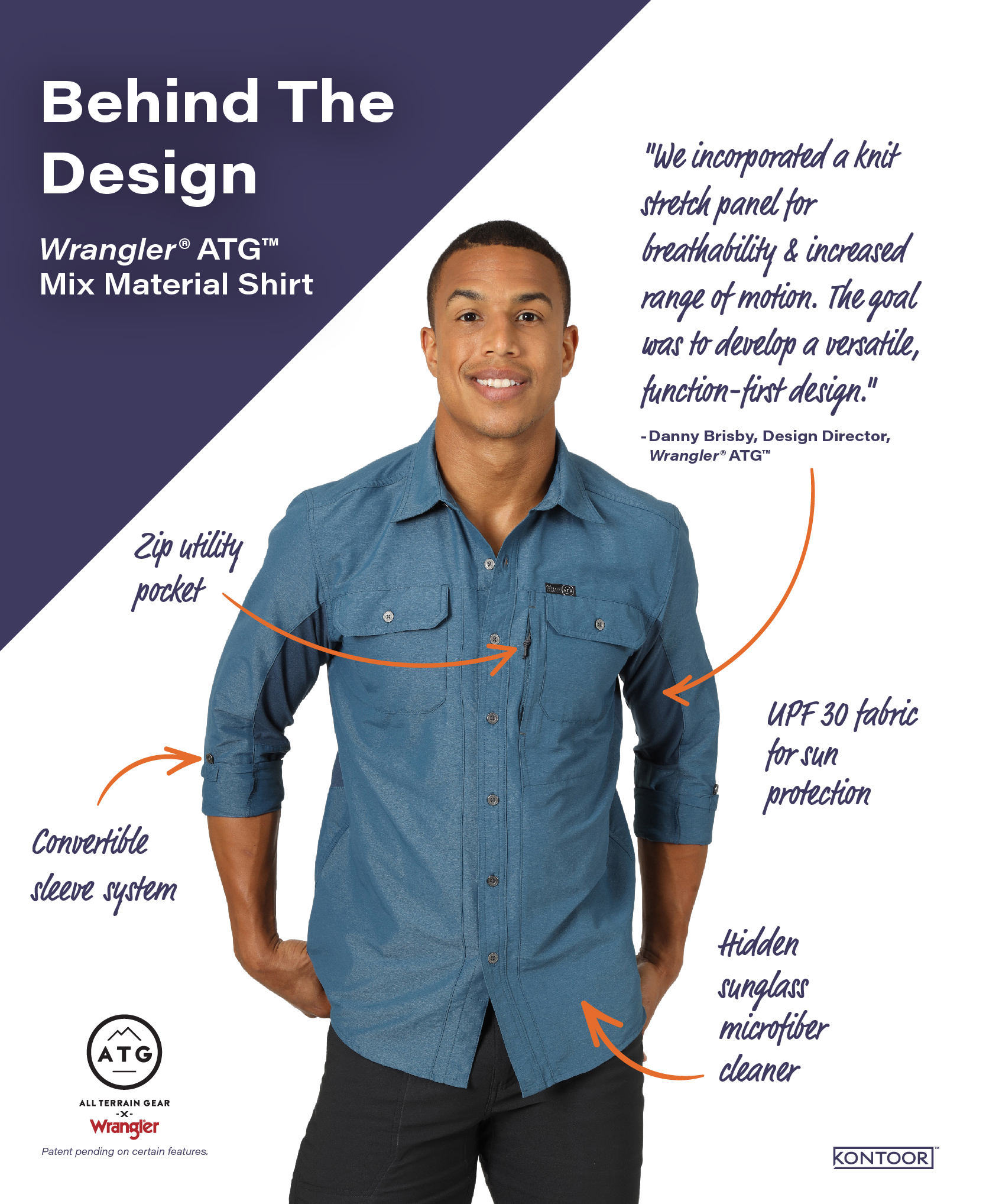 Form Follows Function for Wrangler® ATG™ Mix Material Shirt