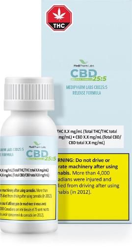 MediPharm Labs CBD25:5 Release Formula