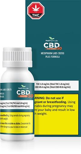 MediPharm Labs CBD50 Plus Formula Oil CBD