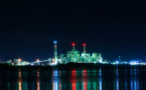 Power plant at night - about Midwest Energy Emissions Corp.