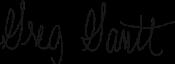 Greg Gantt Signature