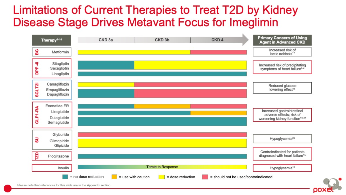 Limitations of Current Therapies to Treat T2D by Kidney Disease Stage Drives Metavant Focus for Imeglimin
