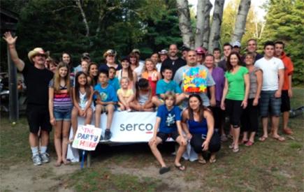 Serco camping trip in Ontario, Canada