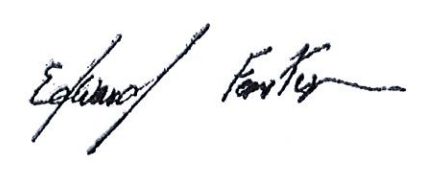 Edward Fenster's Signature