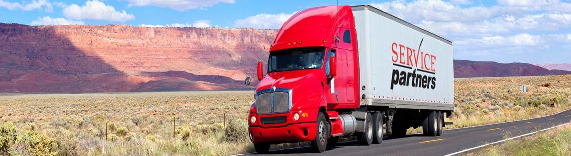Service Partners semi truck